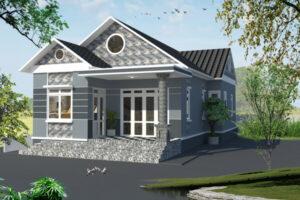 Mẫu thiết kế nhà cấp 4 với sự kết hợp mái ngói