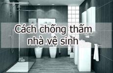 Cách chống thấm nhà vệ sinh