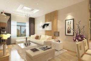 Thiết kế phòng khách đẹp cho chung cư lớn
